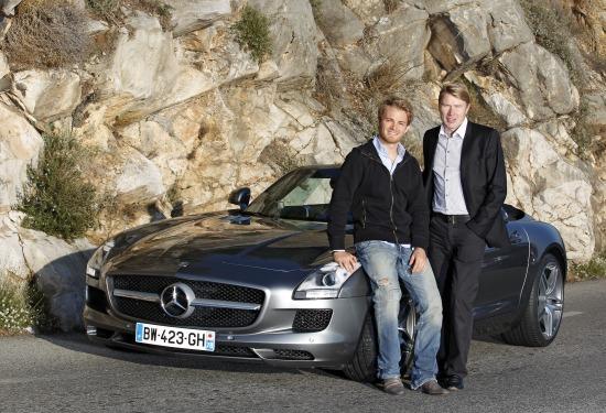 Nico Rosberg és Mika Häkkinen / Mercedes