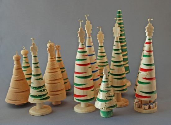 Karácsonyfa esztergált fából
