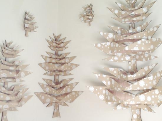 Hajtogatós papír karácsonyfa