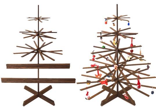 Karácsonyfa lécekből