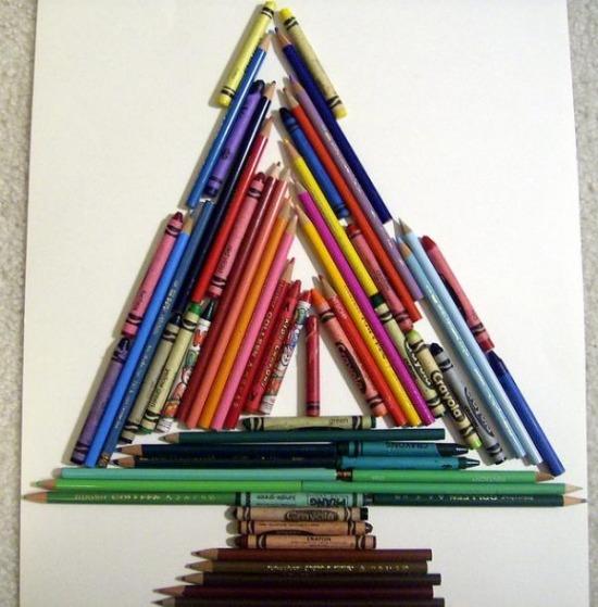 Ceruza karácsonyfa