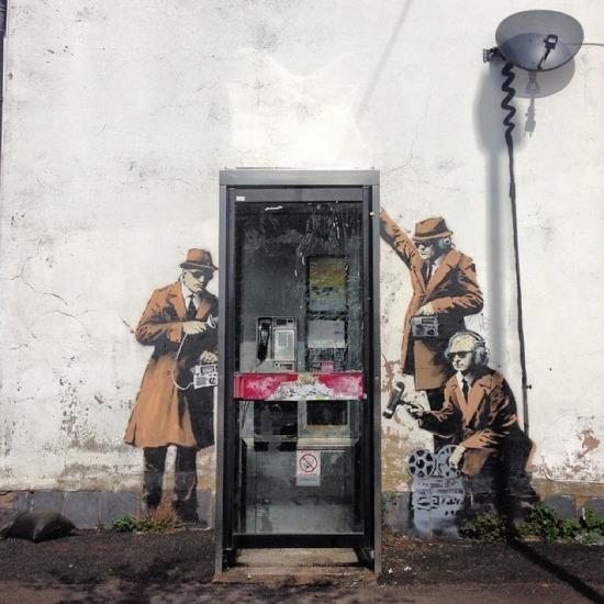 A titkosügynökök Banksyra utalnak