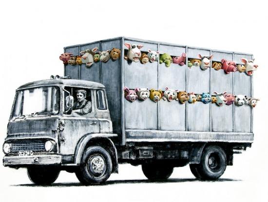 Régiúj mű Banksy honlapján