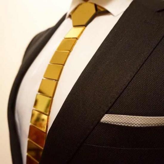 hex tie gold
