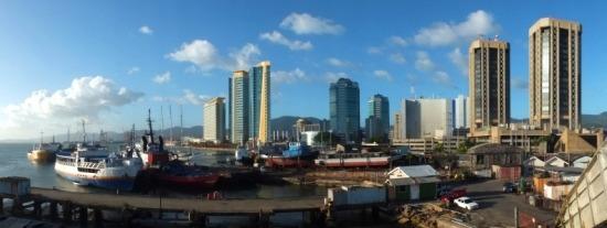 Port Of Spain a tenger felől nézve egészen normális hely