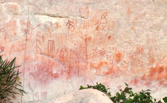 A pemón piktogramok inkább falfirkára hasonlítanak
