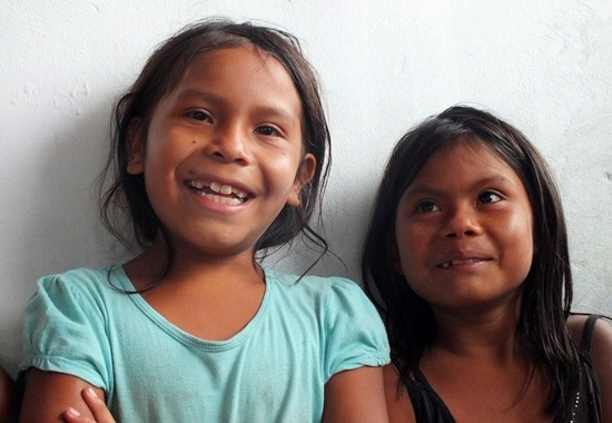 Pemón gyerekek 2013-ban