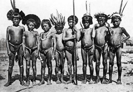 Pemón gyerekek az 1920-as években