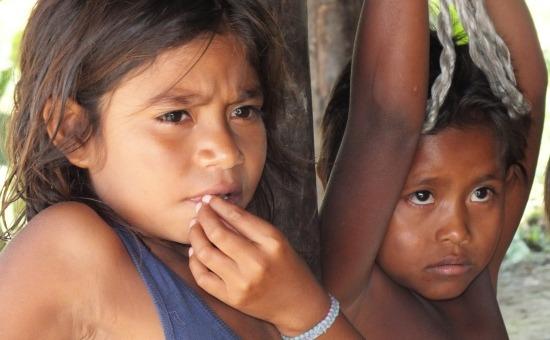 Warao kislányok