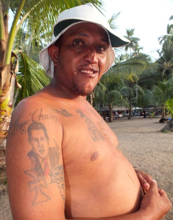 Van, aki Chávezt a testére tetoválja tisztelete és imádata jeléül