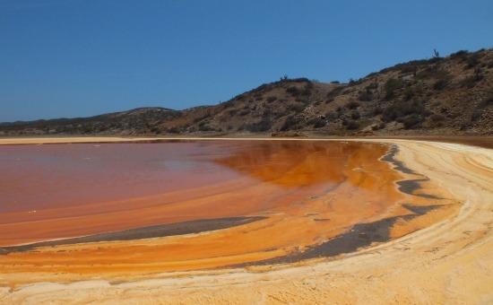 Nem turistalátványosság, de szép a sólagúna Araya határában