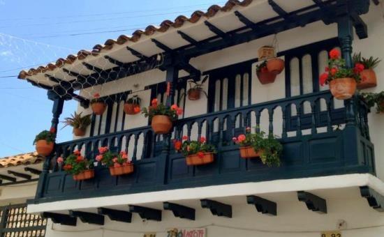 Klasszikus terasz Villa de Leyvában