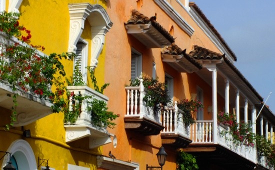 Cartagena a balkonok és színek városa