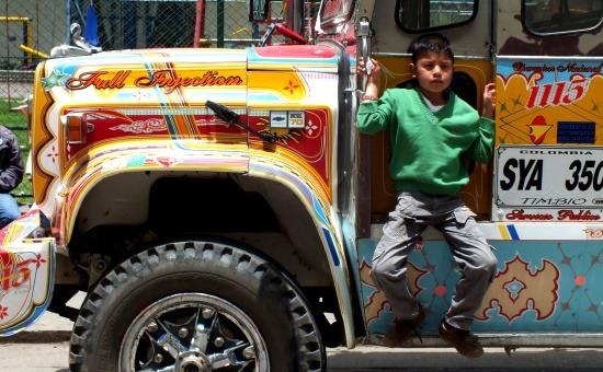 A chiva az Andok tömegközlekedése