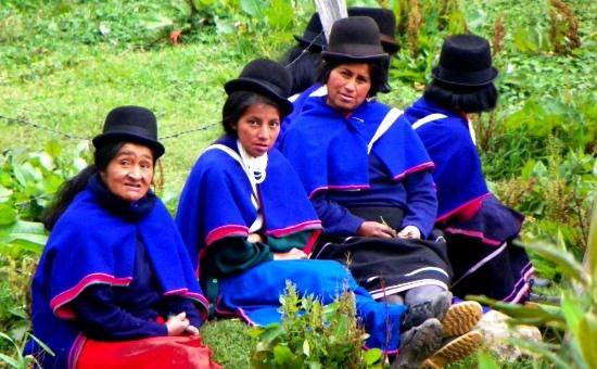 Guambiano asszonyok Campana közelében