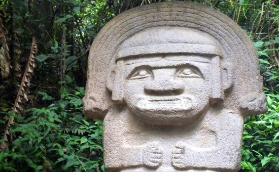 Egyike a leghíresebb szobroknak San Agustínban