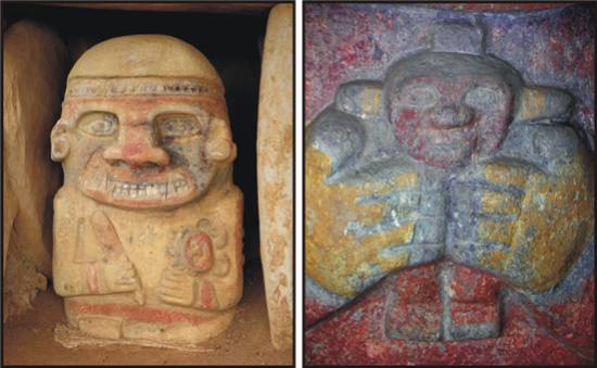 A sámán és az áldozati gyermek... a legszebb szobrok San Agustínban