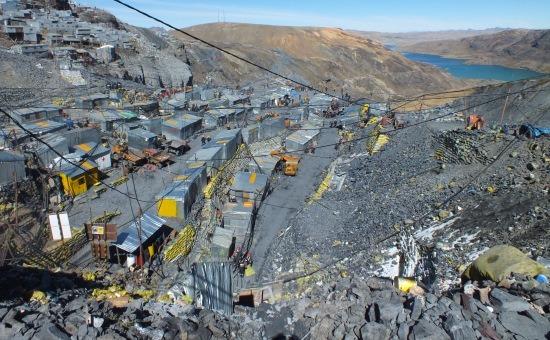 A bányák felülnézetből