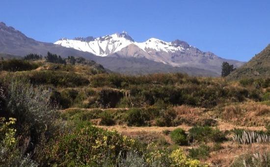 A Hualca Hualca 6025 méteres csúcsa a cabanák szent hegye
