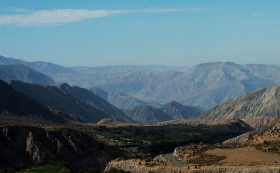 Visszatekintve a Colca völgyébe Chuquibambából
