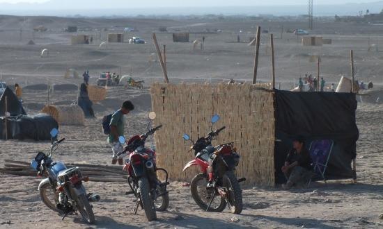 A sivatagban számos helyen lehet látni területfoglalókat