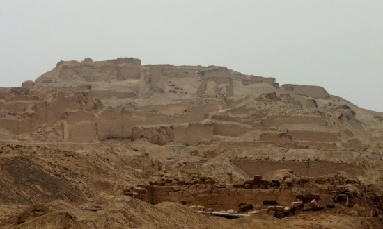 A sivatag homokja elnyeli ak orábban feltárt épületeket - ez Pachacamac