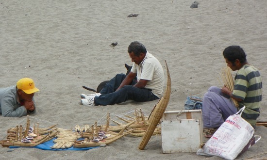 Huanchaco tengerpartján csak az árusok vannak