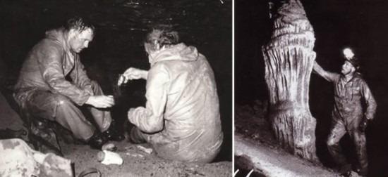 Neil Armstrong és Stanley Hall a Tayos-barlangban