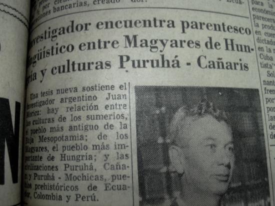 Móricz János elmélete megjelenik az ecuadori sajtóban