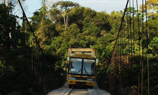 Csotrogány busz Taisha felé