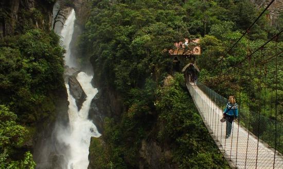 Ecuador talán legszebb vízesése az Ördög üstje