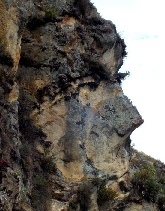 Ingapircát egy kőfej őrzi