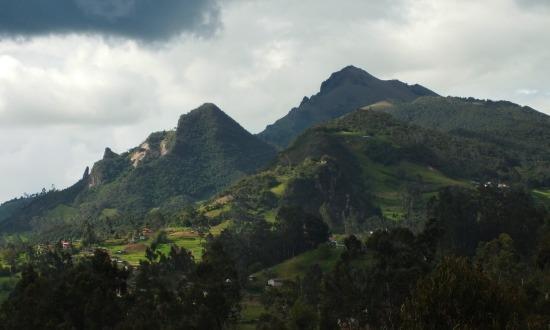 Ilyen táj fogad Cuenca felé utazva