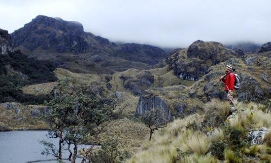 Pózolok a Cajas Nemzeti Parkban