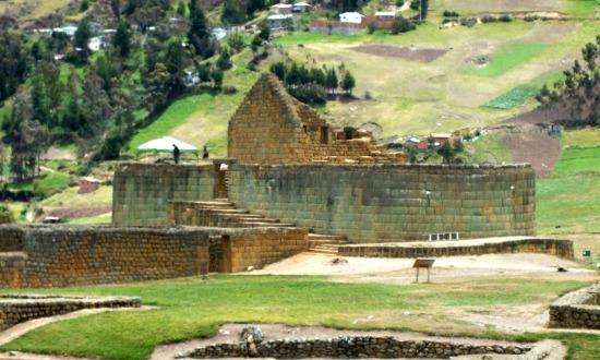 A Nap templom Ingapirca egyetlen inka épülete
