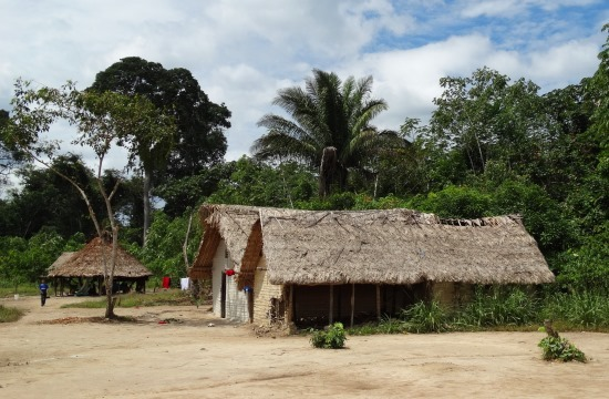 Sanema házak El Palmar faluban