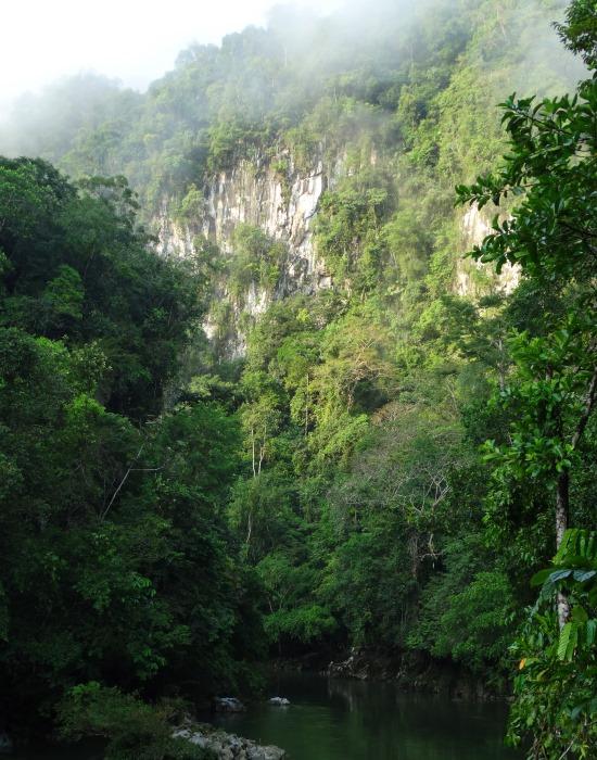 A Rio Claro kanyonja idilli