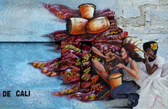 Graffiti Calí belvárosában