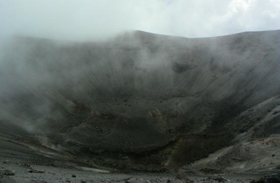 A Puracé-vulkán krátere