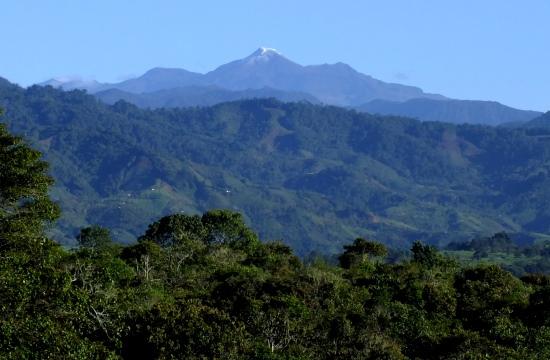 A Puracé-vulkán San Agustínból fotózva