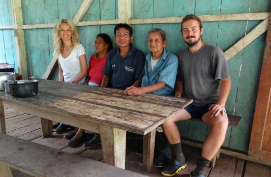 Balról jobbra: Eri, José Manuel felesége, José Manuel, Juan Ramos és jómagam