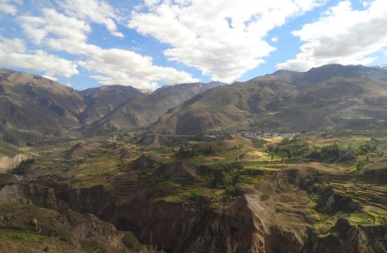 A Colca-kanyon teraszai az inkák előtti időkből származnak