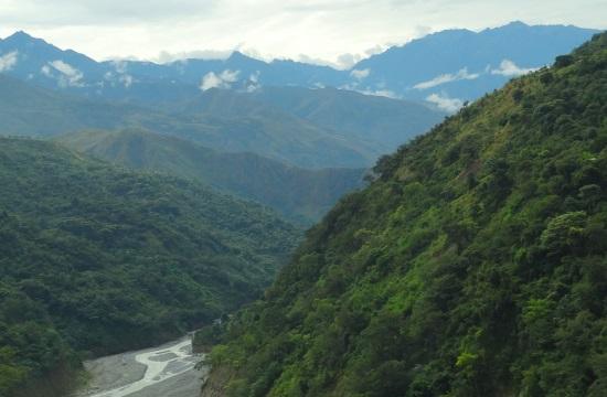 A Huancacalléba vezető út sem kevésbé szép