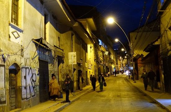 Éjszakai utcakép a belvárosból