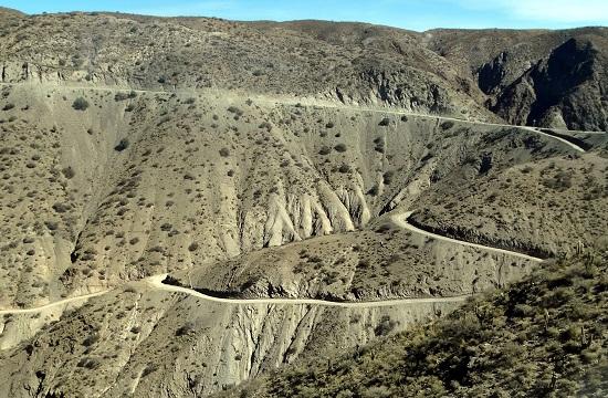 A Tupiza és Tarija között vezető főútvonal