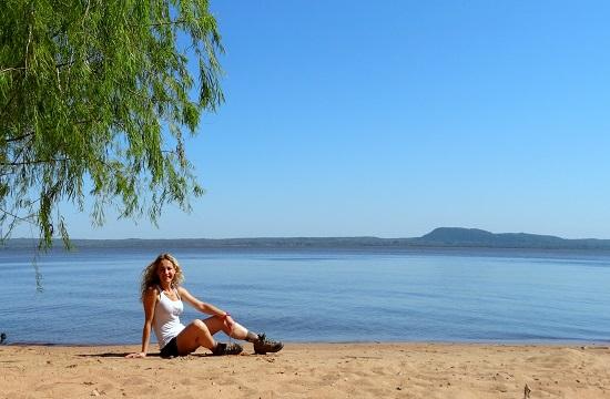 Én az Ypacaraí-tó partján