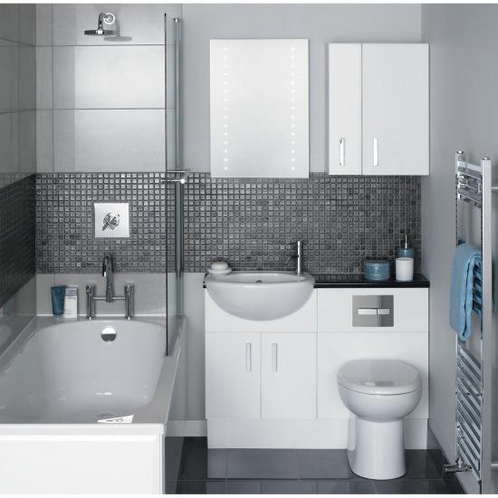 Fürdőszobák kis helyen - otthonos