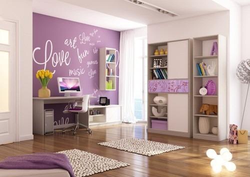 Lila falak a szob ban otthonos for Best diy interior design blogs
