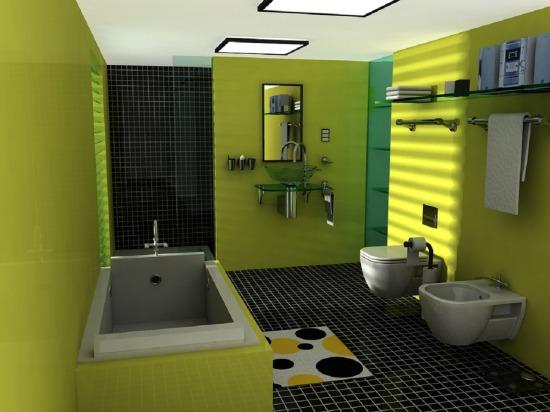 Zöld fürdőszobák - otthonos