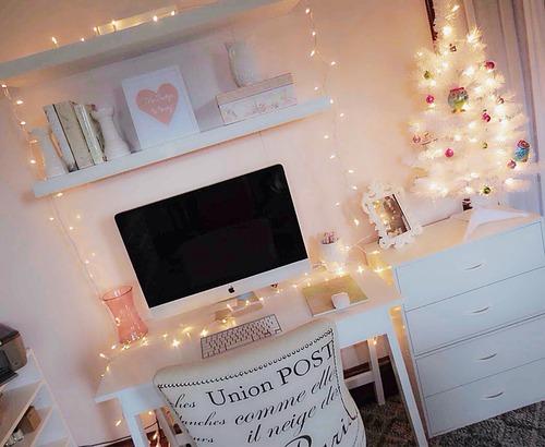 Dekoráció karácsonyi égőkkel - otthonos